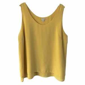Halogen Yellow Oversized Tank Top XL